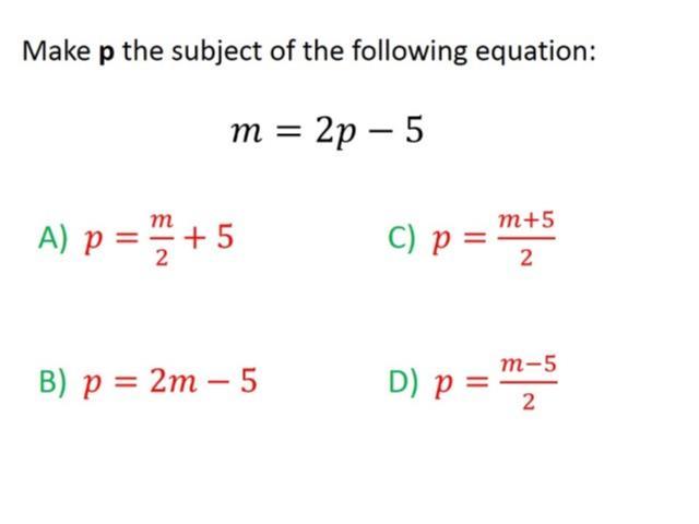 Rearranging Formulas Worksheet Gcse | Worksheet