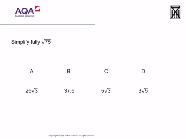 AQA Level 2 in Further Maths | Diagnostic Questions